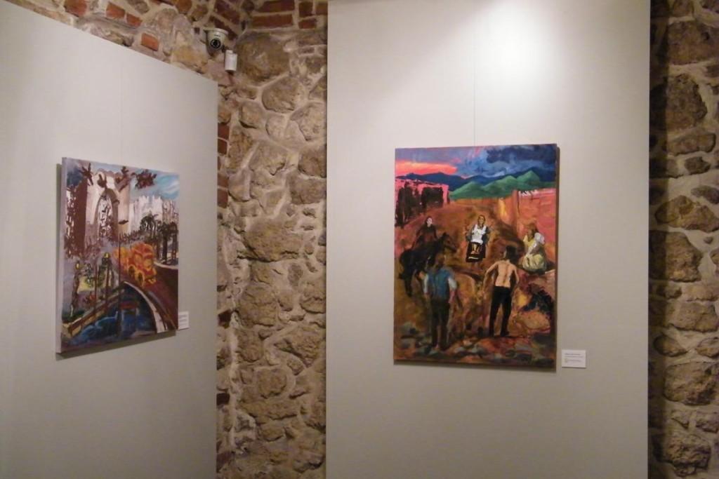 Generał w labiryncie, Pożegnanie,100 x 75 cm, ziemia, akryl, olej na płótnie, 2011 Sabina Woźnica