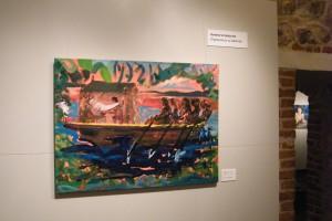 Generał w labiryncie. Simon Bolivar podróżnikiem, olej na płótnie, 100 x 125 cm, 2011 Sabina Woźnica
