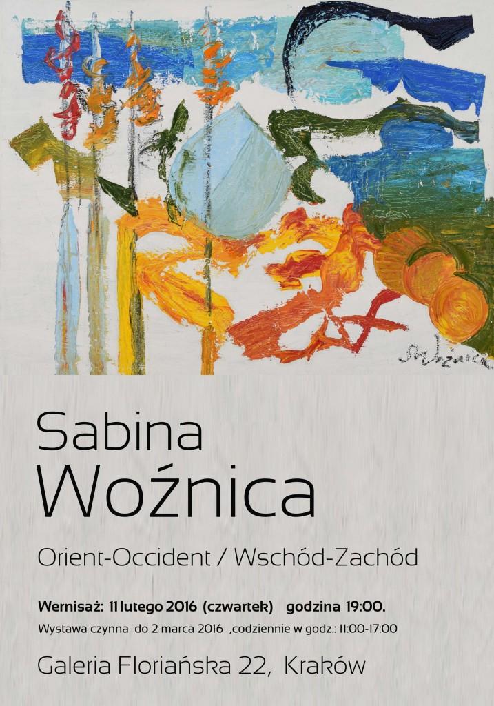 Sabina Wożnica - wystawa Kraków Floriańska 22